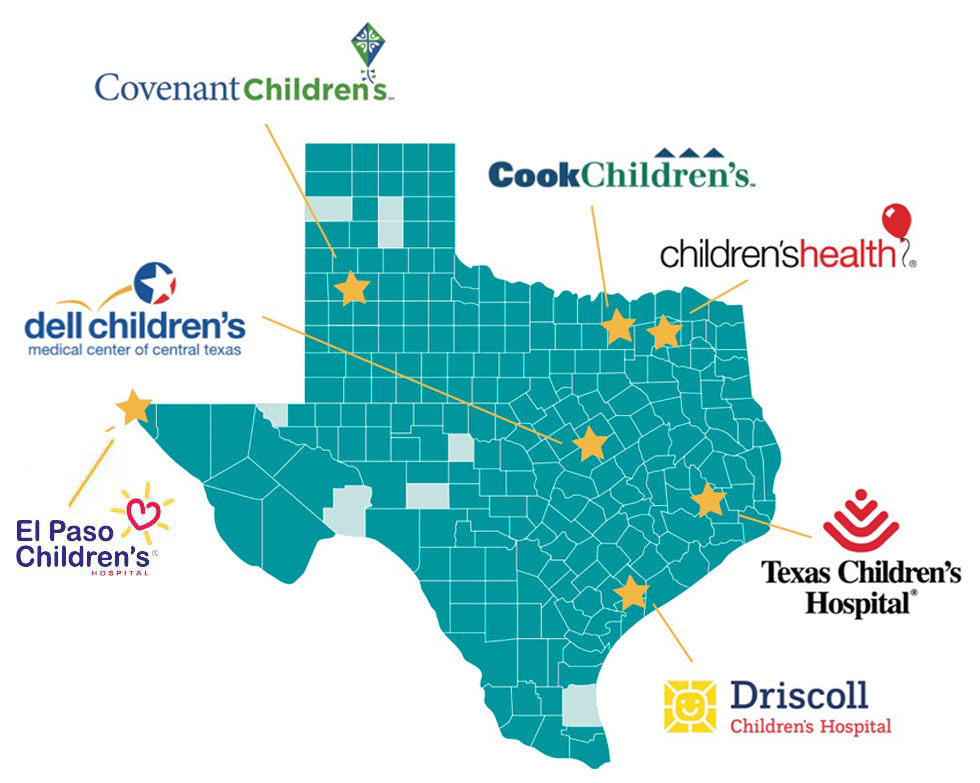 Member Hospitals Map